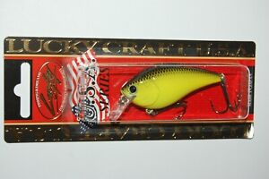 """lucky craft lc 1.5  2 2/5"""" 1/2oz bass crankbait to chart black chartreuse"""