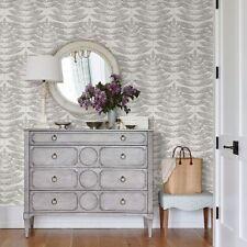 Terrain Peel and Stick Wallpaper Gray Botanical Leaf Gray Grey White Designer