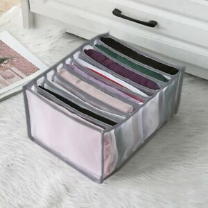 Large Drawer Organizer Fold Clothes T-shirt Leggings Jeans Closet Storage Box US
