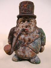 Vintage Cast Iron Money Box Transvaal Bank Coin Figurine Man With Cigar Rare *F