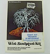 Kelly's Weeping Willow Wire Sculpture Kit No. 102 Vtg. 1978 Unmade in Box 4.5 In