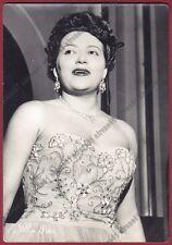 NILLA PIZZI 05 CANTANTE SINGER MUSICA MUSIC SANT'AGATA BOLOGNESE viaggiata 1960