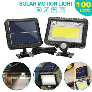 128 LED Solar Power Waterproof COB Motion Sensor Wall Light Outdoor Garden Lamps