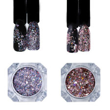 2Boxes Holographic Nail Art Glitter Powder Sequins Holo Laser Pigment