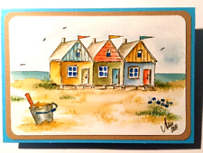 Art Impressions Beach house & flowers Watercolor Set L@@K@example RUBBER STAMPS