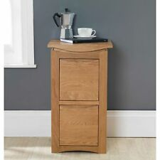 Crescent Solid Oak Furniture Two Drawer Filing Cabinet Home Office