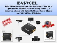 Easycel Audio Digital To Analog Converter Dac With 3.5Mm Jack, Optical Spdif Tos