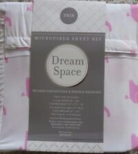 DREAM SPACE PINK ELEPHANTS 3PC TWIN SHEET SET NEW! E