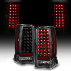 2002-2006 Cadillac Escalade LED Signal Black Tail Lights Lamps Pair Replacement