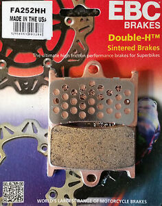 EBC/FA252HH Sintered Brake Pads Front for Yamaha MT-07, MT-09, S/Rally & Tracer