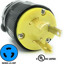 NEMA L5-30P 30A 125V Locking Male Receptacle Replacement Plug RV 3Prong 30amp