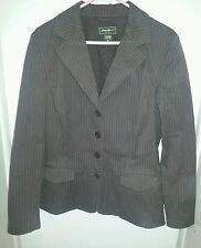 Eddie Bauer Size 14 Brown Pinstrip Blazer