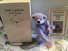 Deb Canham Miniature Mohair Teddy Bear 3 1/2� Blueberry Friends Mint in Box Coa