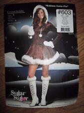 Womens ESKIMO CUTIE PIE Halloween Costume Juniors sz 11 - 13 L lg Dreamgirl