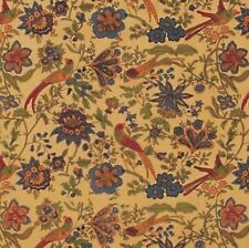 Handmade Birds of Paradise Tapestry Bedspread Coverlet 100% Cotton Tan Twin