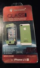 iPhone 4/4s Nice Crystal Premium Tempered Glass Screen Protector (Front/Back)
