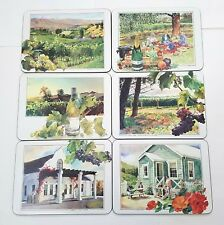 6 Great Vineyards of New Zealand Placemats Cork Back by JASON
