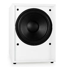 ALTAVOZ SUBWOOFER ACTIVO HIFI 250W RMS GRAVES BAJOS HOME CINEMA TV CINE BLANCO
