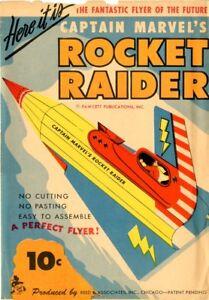 Captain Marvel's Rocket Raider  VGF  Reed & Associates  Fawcett Publications TOY