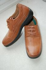 CUSHIONFLEX BROWN TAN LIGHTWEIGHT MOULDED SOLE LACE UP SHOES Eu 44 / 9.5 or 10