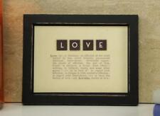Vintage Style Definition Of 'Love' Dictionary Frame East Of India 4528 EOI