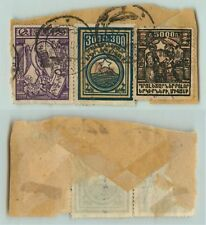 Armenia 1922 SC 314 320 331 used on the piece cover cut . e2074