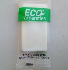 225 - ECO AMENITIES Travel Size 0.5oz Hotel Bar Soaps in bulk, White, Green Tea
