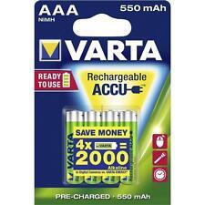 4 batterie ministilo AAA ricaricabili VARTA 550 mAh - per cordless, controller