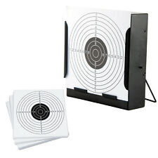 14cm Card Funnel Target Holder Pellet Trap+100 Targets For Air Rifle/Airsoft UK