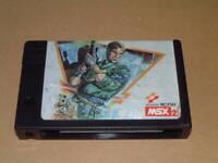 MSX2 METAL GEAR Konami MSX NTSC-J Japanese game Tested Working