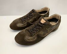 Louis Vuitton Monogram Brown Sneakers Shoes Leather Women's Size 38
