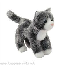 "SCATTER Douglas plush 6"" long GRAY stuffed animal CAT brown grey white kitty"