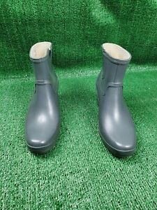 Hunter Aston Wedge Ankle Short Rain Boots Short Booties gray Size 10 US