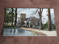 Early Kent Postcard - Wycombe church