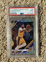 2019 Panini Donruss Optic Anthony Davis Fanatics Silver Wave Prizm PSA 9 Lakers