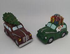 CHRISTMAS DECORATIONS - NOVELTY CHRISTMAS TREE CAR - SANTAS CAR - ORNAMENT