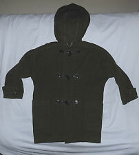 BURBERRY-Wool Hooded Duffle Coat-Size 10-Green color/Unlined-Made in England