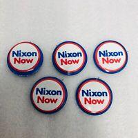 Vtg Nixon Now Re Elect President Campaign Republican Pin Pinback Button Lot of 5