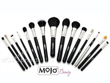 Mojo Beauty Premier 15-Piece Professional Make-up Brush Kit - Gold Heart Zipper