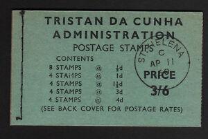 TRISTAN DA CUNHA 1960 3/6d COMPLETE BOOKLET WITH PMK SB3.