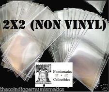 50 Coin Holder Safe T Flip 2x2 Non-PVC Plastic Archival Double Pocket Storage