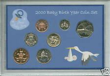 New Born BABY Boy Cased coin BU Poison SET 2000 (Parent Maman Papa Keepsake Present)