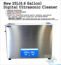 HUGE 25L Liter 6.6 Gallon Ultrasonic Jewelry Dental Medical Cleaner Stainless