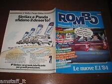 RIVISTA ROMBO 1984/2=LIGIER TURBO=NELSON PIQUET=PROVA BMW R45/R65=POSTER=