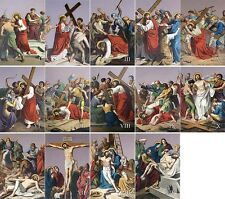 "16"" x 24"" Metal Plate Traditional Outdoor Indoor Stations of the Cross"