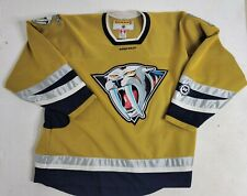 "Vintage Koho Nashville Predators ""Mustard Cat"" yellow hockey jersey Men Xxl"