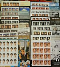 US STAMPS COMPLETE SET OF 20  LEGENDS OF HOLLYWOOD 1995-2016 MONROE-TO TEMPLE