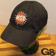 MILLER GENUINE DRAFT BASKETBALL THEME HAT BLACK STRAPBACK ADJUSTABLE VGC G8