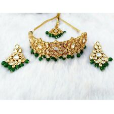 Perals Fabulous Design Meena Kundan Gold Plated Party Wear Jewelry Necklace Sets