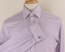 Charles Tyrwhitt Extra Slim Fit French-Cuff Check Dress Shirt Mens 15.5/33